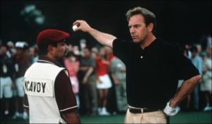 Kevin Costner drops the ball in the film Tin Cup