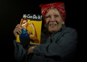 "Photo of Peggy Wills the ""We Can Do it"" Model for the poster"